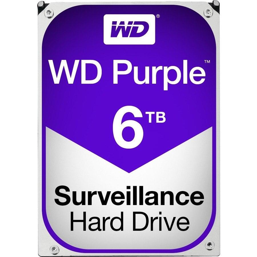 """WD Purple WD60PURZ 6 TB Hard Drive - SATA (SATA/600) - 3.5"""" Drive - Internal"""