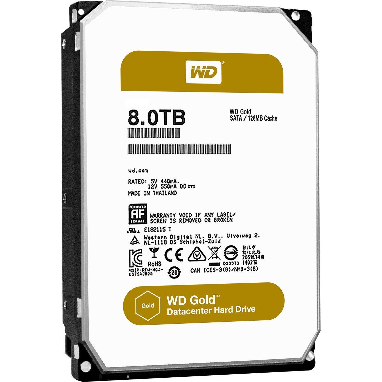 "WD Gold WD8002FRYZ 8 TB Hard Drive - 3.5"" Internal - SATA (SATA/600)"
