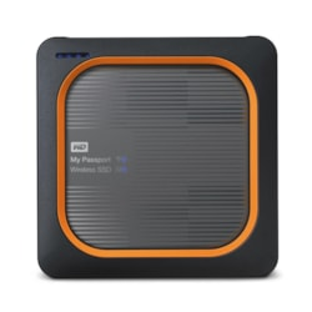 WD My Passport Wireless WDBAMJ0010BGY-PESN 1 TB Network Solid State Drive - External - Portable