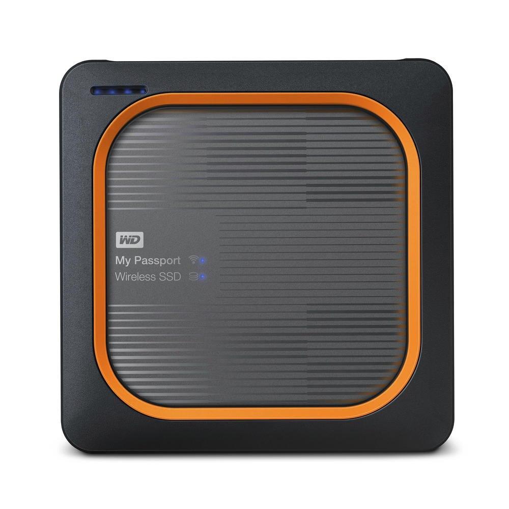 WD My Passport Wireless WDBAMJ2500AGY-PESN 250 GB Network Solid State Drive - External - Portable