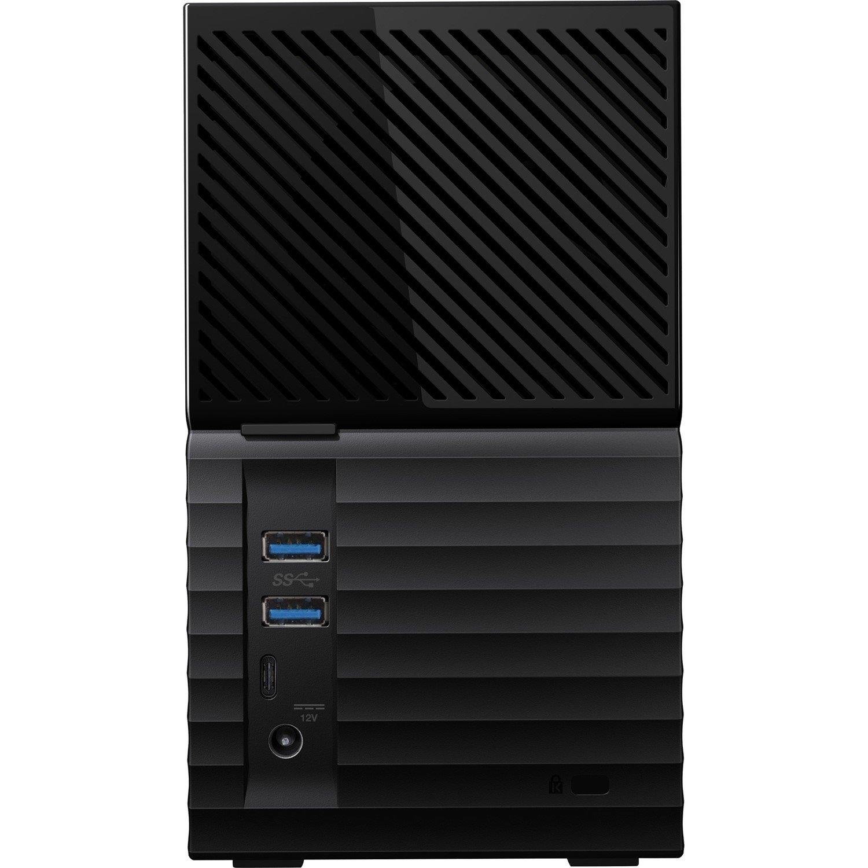WD My Book Duo WDBFBE0080JBK-AESN 2 x Total Bays DAS Storage System Desktop