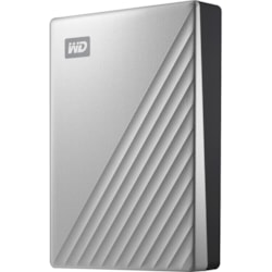 WD My Passport Ultra WDBFTM0040BSL 4 TB Portable Hard Drive - External - Silver