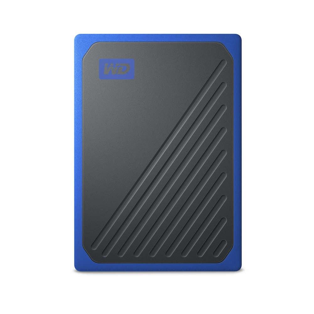WD My Passport Go WDBMCG0010BBT-WESN 1 TB Portable Solid State Drive - External - Black, Cobalt