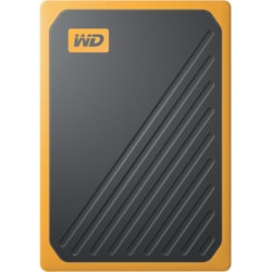 WD My Passport Go WDBMCG0010BYT-WESN 1 TB Portable Solid State Drive - External - Black, Amber