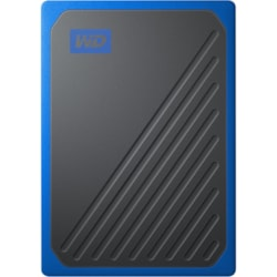 WD My Passport Go WDBMCG0020BBT-WESN 2 TB Portable Hard Drive - External - Black, Cobalt
