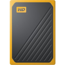 WD My Passport Go WDBMCG0020BYT-WESN 2 TB Portable Hard Drive - External - Black, Amber