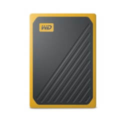 WD My Passport Go WDBMCG5000AYT-WESN 500 GB Portable Solid State Drive - External - Black, Amber