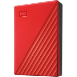 WD My Passport WDBPKJ0040BRD-WESN 4 TB Portable Hard Drive - External - Red