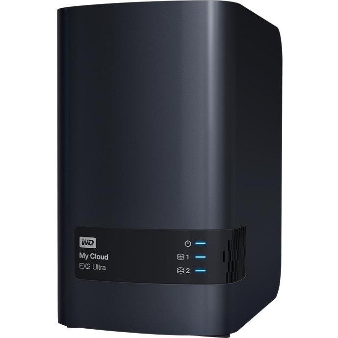 WD My Cloud EX2 Ultra WDBVBZ0000NCH-SESN 2 x Total Bays SAN/NAS Storage  System - Desktop