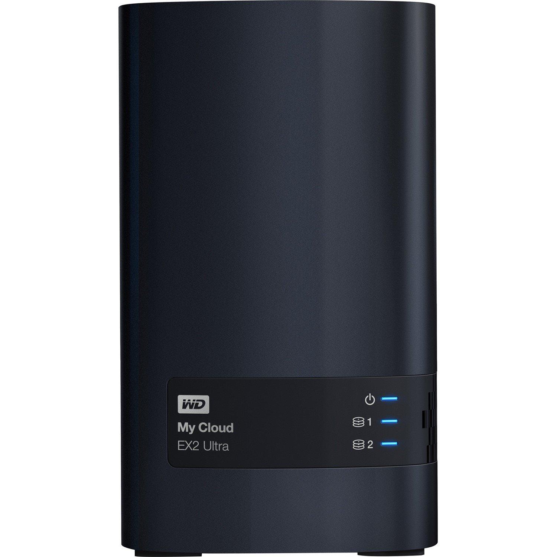 WD My Cloud EX2 Ultra WDBVBZ0040JCH 2 x Total Bays NAS Storage System - Marvell Armada 385 Dual-core (2 Core) 1.30 GHz - 1 GB RAM - DDR3 SDRAM Desktop