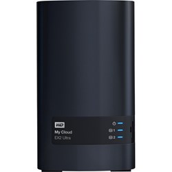 WD My Cloud EX2 Ultra WDBVBZ0080JCH 2 x Total Bays NAS Storage System - Marvell Armada 385 Dual-core (2 Core) 1.30 GHz - 1 GB RAM - DDR3 SDRAM Desktop