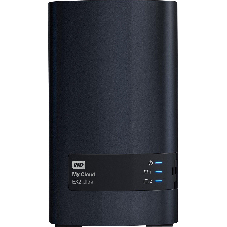 WD My Cloud EX2 Ultra WDBVBZ0080JCH 2 x Total Bays NAS Storage System - Desktop