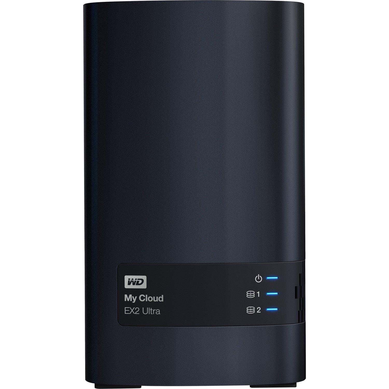 WD My Cloud EX2 Ultra WDBVBZ0120JCH 2 x Total Bays NAS Storage System - Desktop
