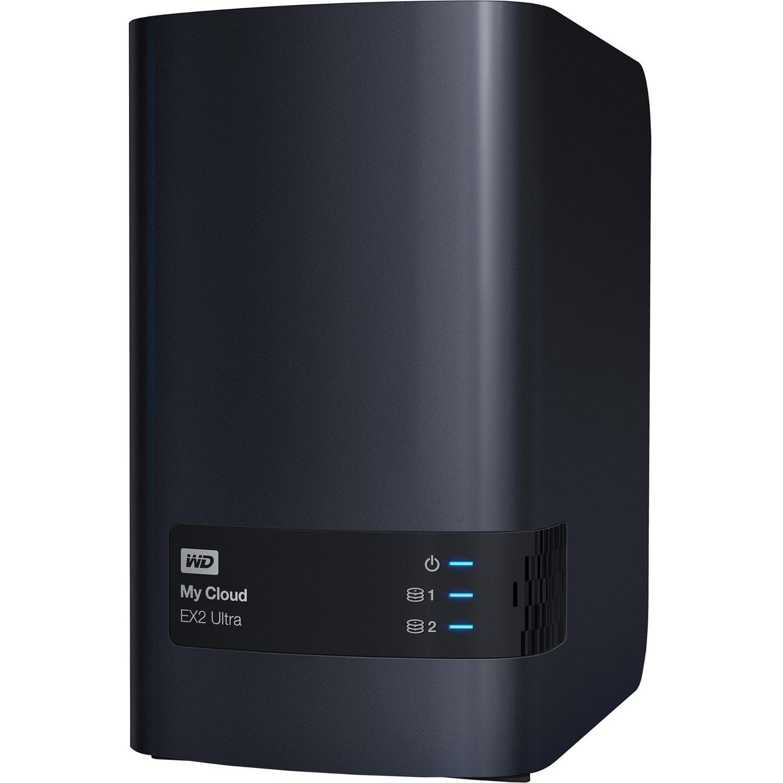 WD My Cloud EX2 Ultra WDBVBZ0200JCH-SESN 2 x Total Bays SAN/NAS Storage System - Desktop
