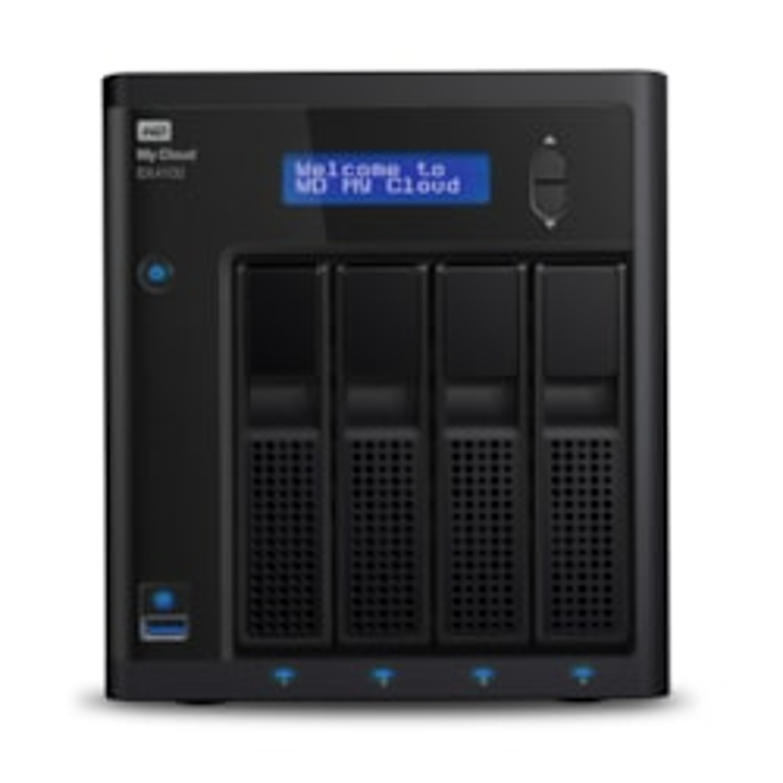 WD My Cloud EX4 EX4100 4 x Total Bays NAS Storage System - Desktop