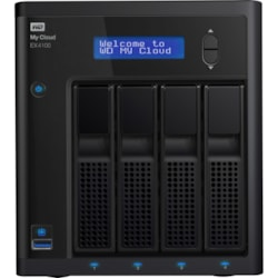 WD My Cloud EX4 EX4100 4 x Total Bays NAS Storage System - 4 x 4 TB HDD - Marvell ARMADA Dual-core (2 Core) 1.60 GHz - 2 GB RAM - DDR3 SDRAM Desktop