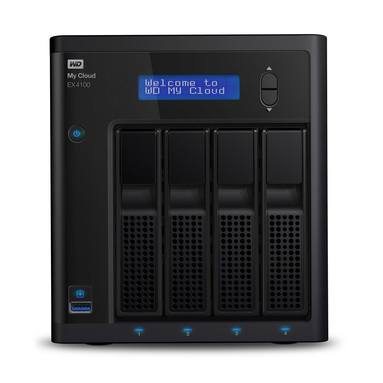 WD My Cloud EX4100 4 x Total Bays NAS Storage System - Marvell ARMADA 300 Dual-core (2 Core) 1.60 GHz - 2 GB RAM - DDR3 SDRAM Desktop