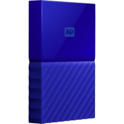 WD My Passport WDBYFT0030BBL-WESN 3 TB Portable Hard Drive - External - Blue