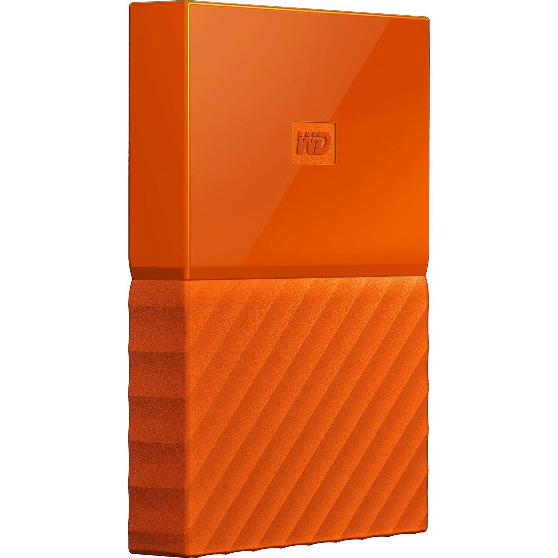WD My Passport WDBYFT0040BOR-WESN 4 TB Portable Hard Drive - External - Orange