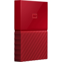 WD My Passport WDBYFT0040BRD-WESN 4 TB Portable Hard Drive - External - Red