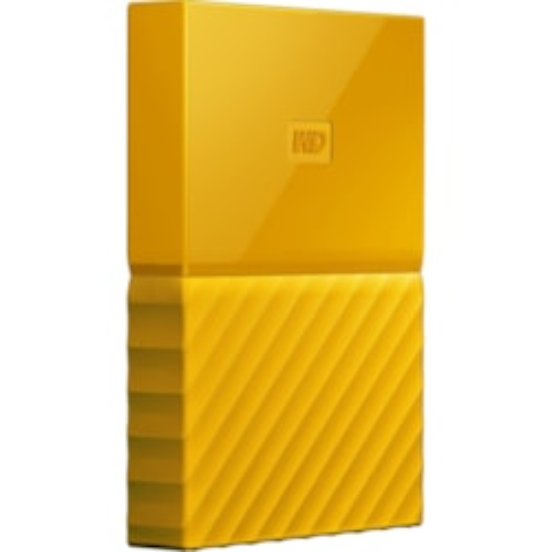 WD My Passport WDBYFT0040BYL-WESN 4 TB Portable Hard Drive - External - Yellow