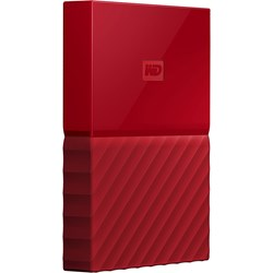 WD My Passport WDBYNN0010BRD-WESN 1 TB Portable Hard Drive - External - Red