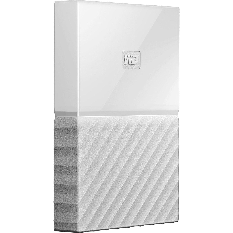 WD My Passport WDBYNN0010BWT-WESN 1 TB Portable Hard Drive - External - White