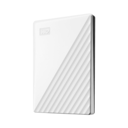 WD My Passport WDBYVG0010BWT-WESN 1 TB Portable Hard Drive - External - White