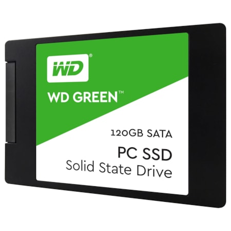 """WD Green WDS120G2G0A 120 GB Solid State Drive - SATA (SATA/600) - 2.5"""" Drive - Internal"""
