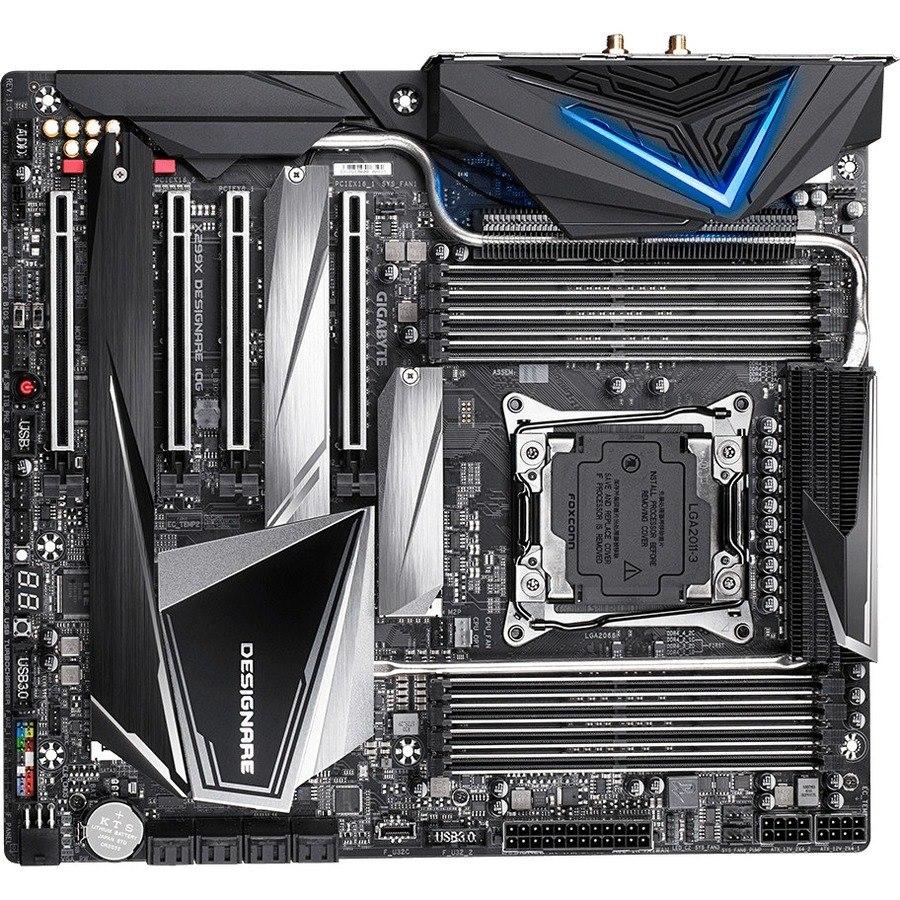 Gigabyte X299X DESIGNARE 10G Desktop Motherboard - Intel Chipset - Socket R4 LGA-2066
