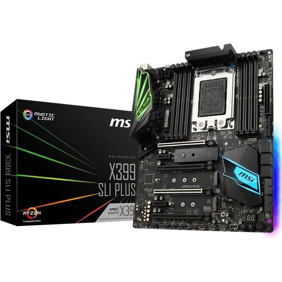 MSI X399 SLI PLUS Desktop Motherboard - AMD Chipset - Socket TR4