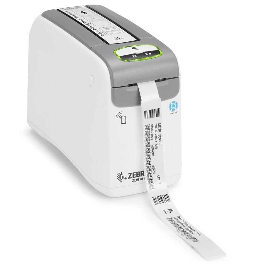 Zebra ZD510-HC Direct Thermal Printer - Monochrome - Desktop - Wristband Print