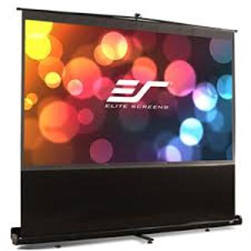 Elite Screens 123 Portable 1610 Pull-Up Projector Screen Floor Pull Up Swivel Legs Ezcinema
