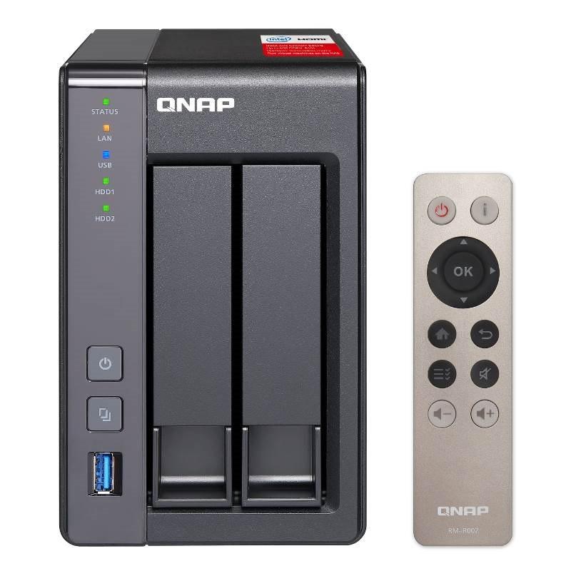 Qnap TS251 Nas Tower Quad Core 2.4 2GHZ Celeron Processor 2X Sat A6 HDD Max 8GB DDR3L Ram