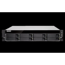 Qnap TVS-872XU-RP-i3-4G No Rail 2U Rack Nas Amd Ryzen 3.9GHZ Quad Core 8X HDD 8GB Ram 2 X Psu