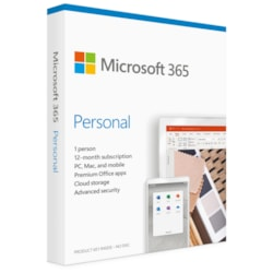 Microsoft Micrsoft QQ2-00982 Office 365 Personal Win/Mac, Retail Box, 1 User, 1 Year Subscription