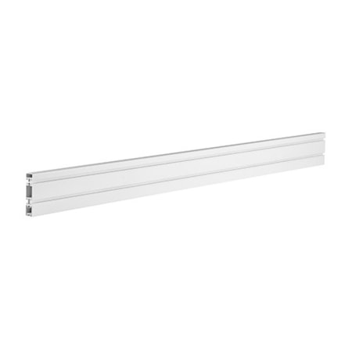 Brateck Aluminum Slatwall Panel, Weight Capacity 40kg-Matte White