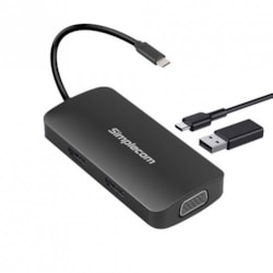 Simplecom Da450 5-In-1 Usb-C Multiport Adapter MST Hub With Vga And Dual Hdmi