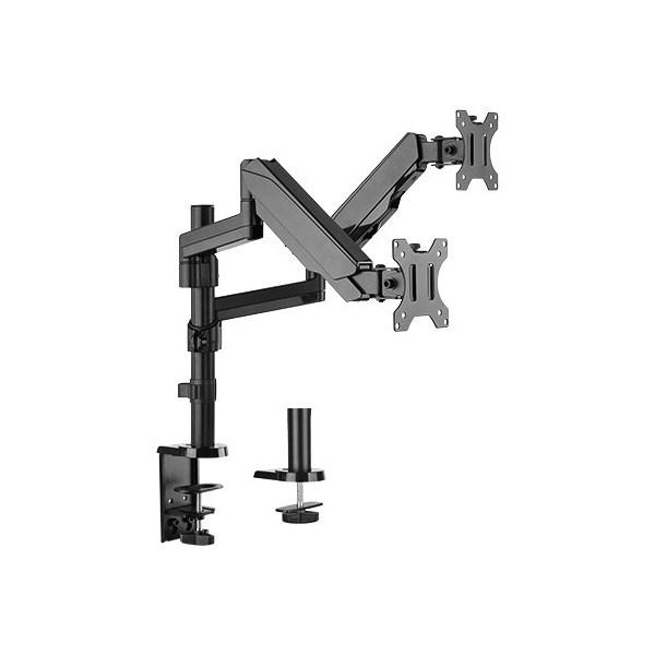 4Cabling Dual Monitor Arm Gas Spring Monitor Bracket