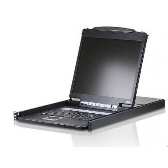 "Aten 8-Port Ps/2-Usb Vga 19"" LCD KVM Switch - [ Old Sku: CL-1308N ]"