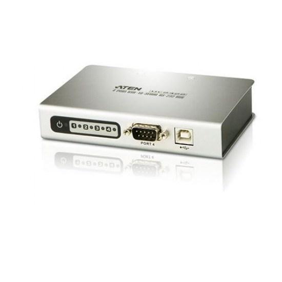 Aten 4-Port Usb To RS-232 Hub - [ Old Sku: Uc-232-4 ]