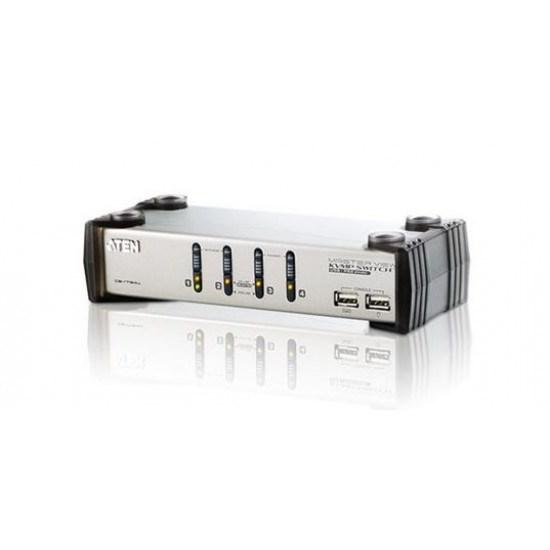 Aten 4-Port Ps/2-Usb VGA/Audio KVMP Switch - [ Old Sku: Cs-1734A ]