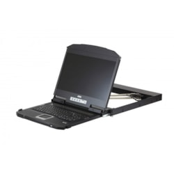 """Aten 18.5"""" Short Depth Usb Hdmi Dvi Vga Dual Rail LCD Console, Supports Full HD, Can Be Mounted Up To A Depth Of 47CM To 75CM"""