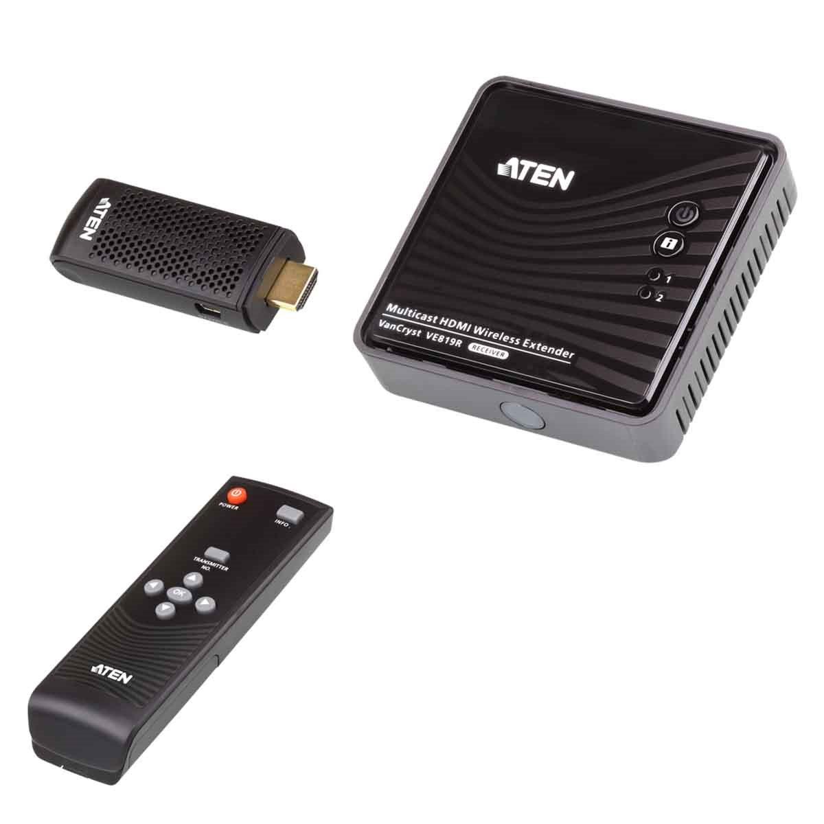 Aten (Ve819-Ata-U) Hdmi Wireless Extender Dongle + Receiver