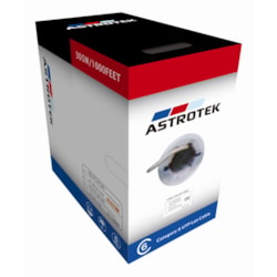 Astrotek Cat6 FTP Cable 305M - Full Copper Wire Ethernet Lan Network Roll Grey 23Awg 0.55Cu Solid 2X4P PVC Jacket