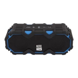 Altec Lansing Mini LifeJacket Jolt Black/Blue - Everything Proof Rugged &Amp; Waterproof Bluetooth Speaker (16HRS Battery / 2400mAh / Smartphone Charge)