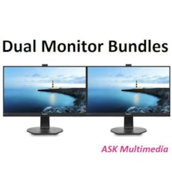 """Philips Phlips Dual Monitor Bundle - 2 X 246V5lhab 24"""" 16:9 Led With Hdmi And Speakers"""