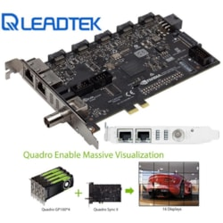 Leadtek nVidia Quadro SYNC Ii Card To Connects Up To 32 4K Synchronized Displays For GP100 P4000 P5000 P6000 Project Overlay & Stereoscopic Display