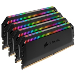 Corsair Dominator Platinum RGB 32GB (4x8GB) DDR4 3200MHz CL16 Dimm Unbuffered 16-18-18-36 XMP 2.0 Base SPD@2666 Black Heatspreaders 1.35V Amd Ryzen