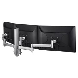 Atdec Awm Triple Monitor Arm Solution - 710MM &Amp; 130MM Articulating Arms - 400MM Post - Bolt - Black